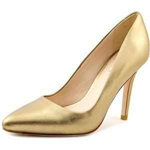 Cole Haan Emery Pump 100 Leather Gold Heels